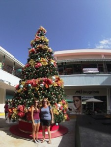 Xmas tree Rodney Bay mall